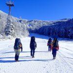 スキー場の登り