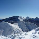 西天狗岳から赤岳方面